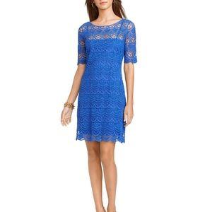Ralph Lauren royal blue crochet shift dress